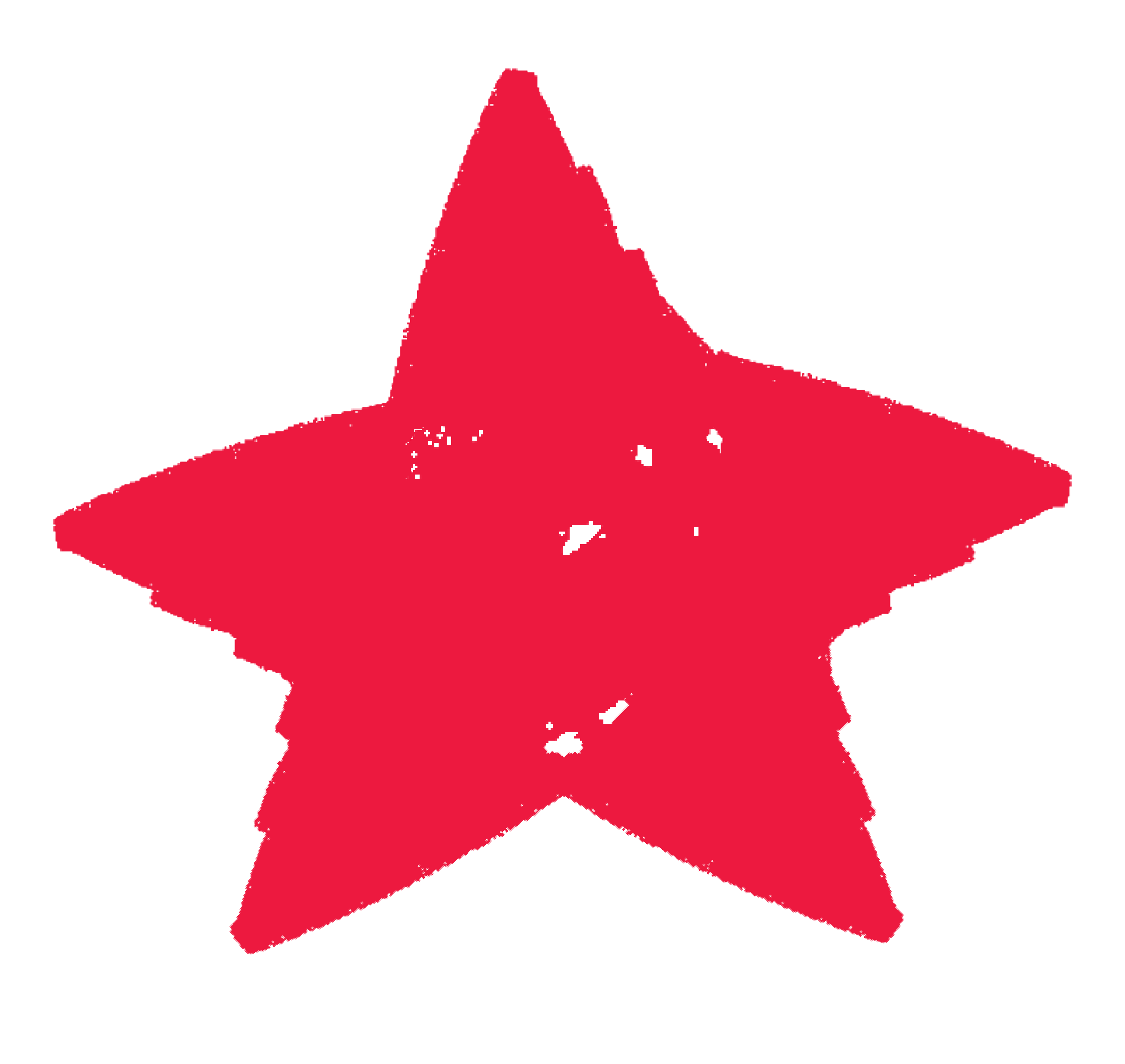 red star scribble